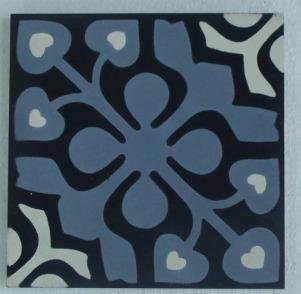 Hydraulic mosaic tile